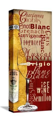 White Wine-Lisa Wolk-Stretched Canvas Print