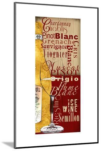 White Wine-Lisa Wolk-Mounted Art Print