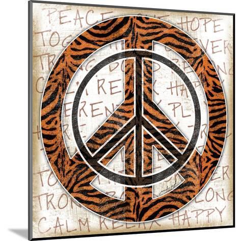 Peace Tiger-Jennifer Pugh-Mounted Art Print