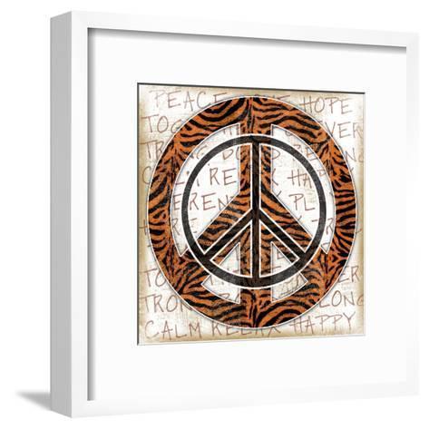 Peace Tiger-Jennifer Pugh-Framed Art Print