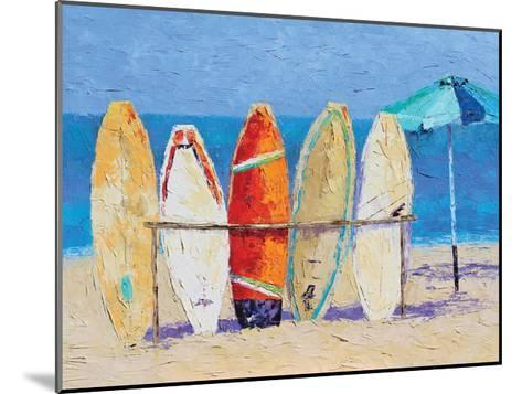 Resting on the Beach--Mounted Art Print