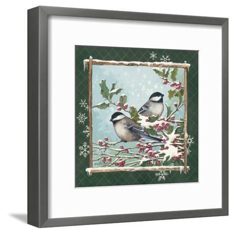 Winter Chickadees-Anita Phillips-Framed Art Print