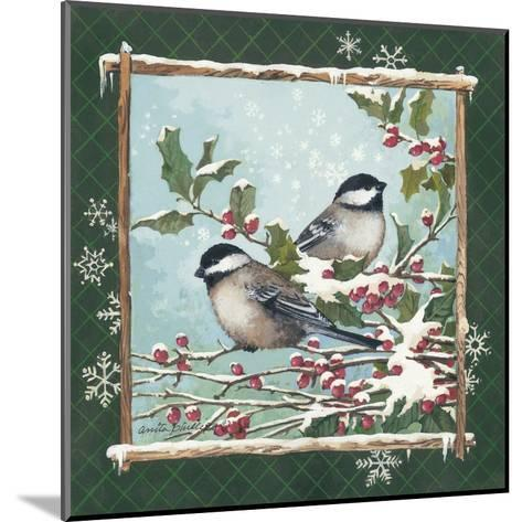Winter Chickadees-Anita Phillips-Mounted Art Print
