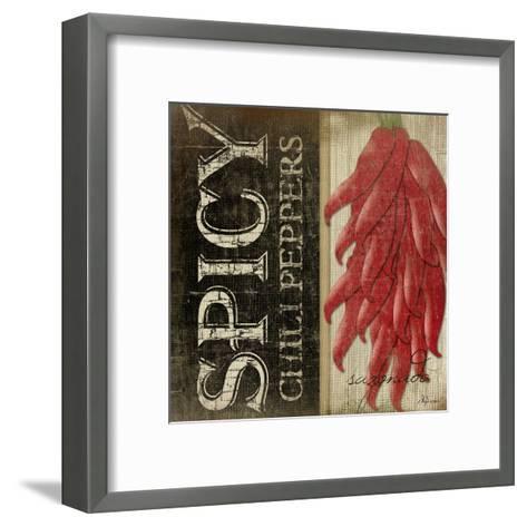 Spicy Chili Peppers-Jennifer Pugh-Framed Art Print