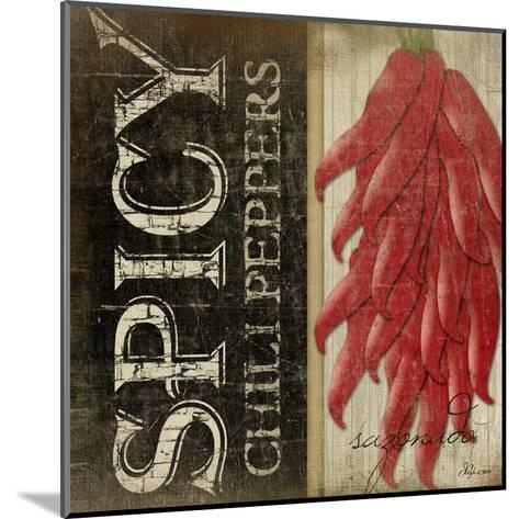 Spicy Chili Peppers-Jennifer Pugh-Mounted Art Print
