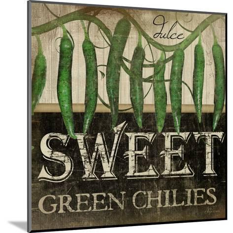 Sweet Green Chilies-Jennifer Pugh-Mounted Art Print