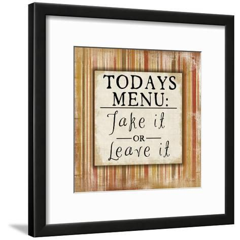 Today's Menu-Jennifer Pugh-Framed Art Print