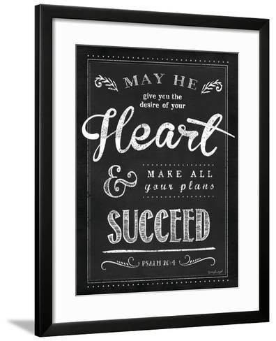Chalkboard Psalm 20:4-Jennifer Pugh-Framed Art Print