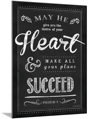 Chalkboard Psalm 20:4-Jennifer Pugh-Mounted Art Print