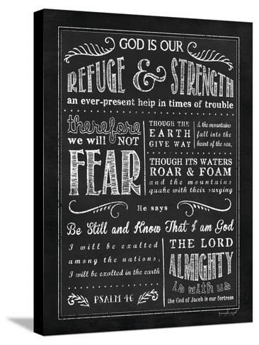 Chalkboard Psalm 46-Jennifer Pugh-Stretched Canvas Print