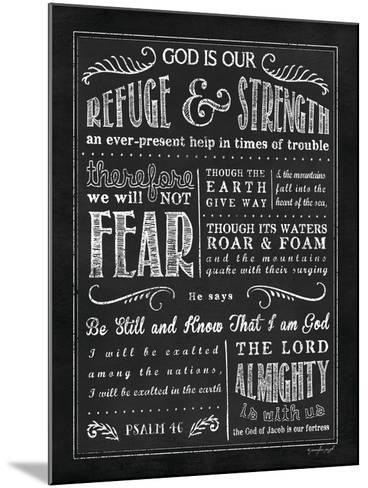 Chalkboard Psalm 46-Jennifer Pugh-Mounted Art Print