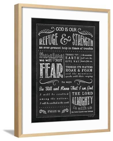 Chalkboard Psalm 46-Jennifer Pugh-Framed Art Print