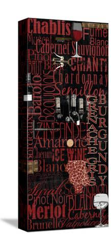 Red Wine - Black-Lisa Wolk-Stretched Canvas Print