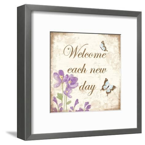 Welcome Each New Day-Kathy Middlebrook-Framed Art Print