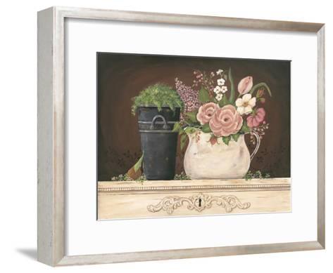Floral with Black Bucket-Jo Moulton-Framed Art Print