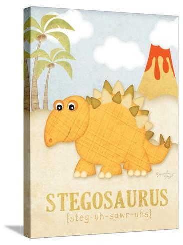 Stegosaurus-Jennifer Pugh-Stretched Canvas Print