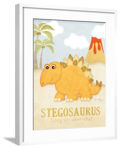 Stegosaurus-Jennifer Pugh-Framed Art Print