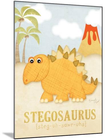 Stegosaurus-Jennifer Pugh-Mounted Art Print