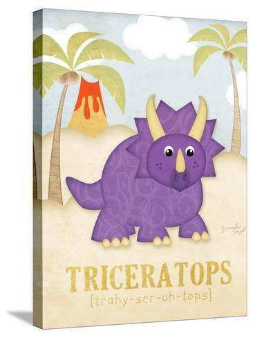 Triceratops-Jennifer Pugh-Stretched Canvas Print