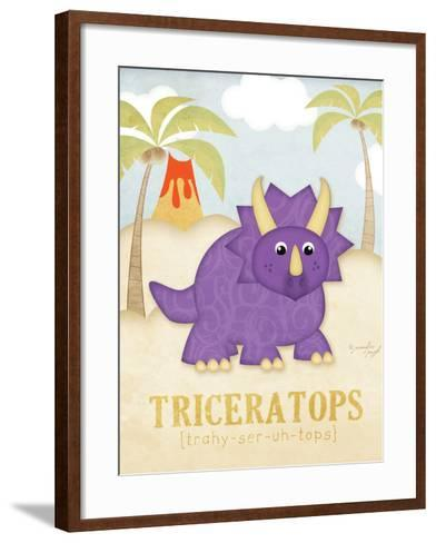 Triceratops-Jennifer Pugh-Framed Art Print