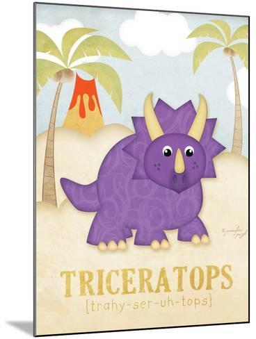 Triceratops-Jennifer Pugh-Mounted Art Print