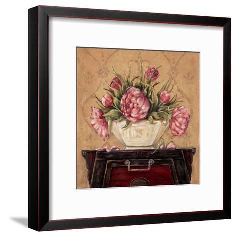 Zen Peonies-Jo Moulton-Framed Art Print