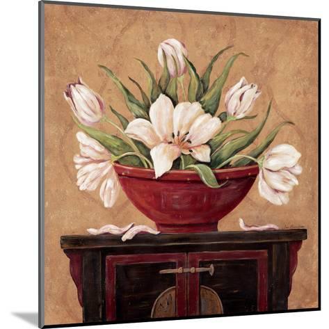 Zen Tulips-Jo Moulton-Mounted Art Print