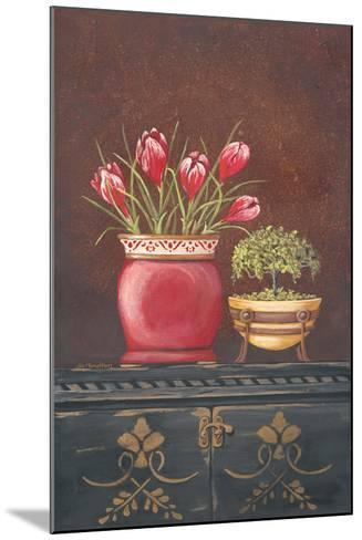 Asiain Red Crocus Floral-Jo Moulton-Mounted Art Print