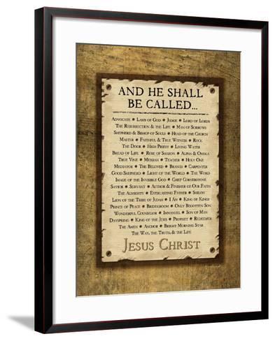 Names of Christ-Jennifer Pugh-Framed Art Print