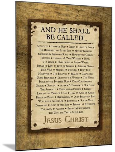 Names of Christ-Jennifer Pugh-Mounted Art Print