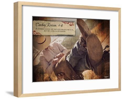 Cowboy Reason IV-Shawnda Craig-Framed Art Print