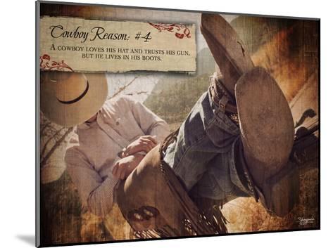 Cowboy Reason IV-Shawnda Craig-Mounted Art Print