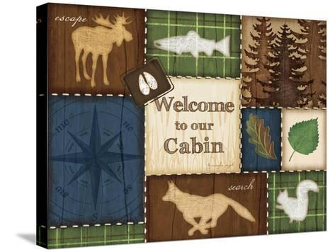 Welcome to Our Cabin-Jennifer Pugh-Stretched Canvas Print