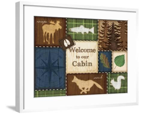 Welcome to Our Cabin-Jennifer Pugh-Framed Art Print
