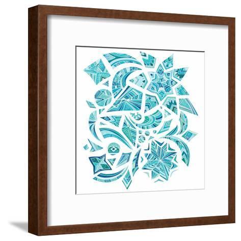 Pink Aztec Winter Design Elements-kisika-Framed Art Print