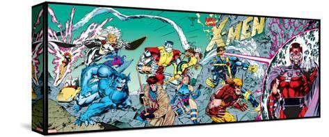 X-Men Forever Alpha No. 1: X-Men No. 1: Beast, Storm, Gambit, Psylocke, Colossus, Rogue, Wolverine--Stretched Canvas Print
