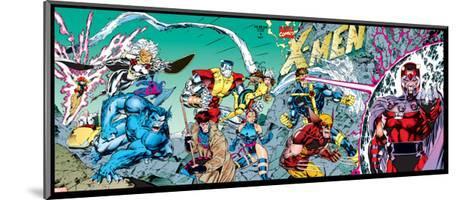 X-Men Forever Alpha No. 1: X-Men No. 1: Beast, Storm, Gambit, Psylocke, Colossus, Rogue, Wolverine--Mounted Art Print