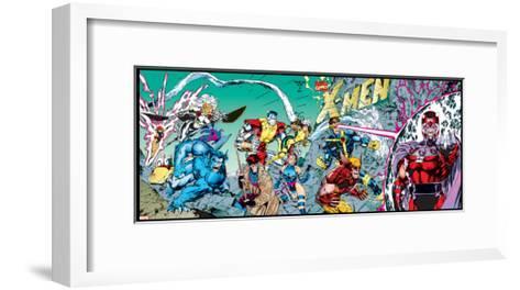 X-Men Forever Alpha No. 1: X-Men No. 1: Beast, Storm, Gambit, Psylocke, Colossus, Rogue, Wolverine--Framed Art Print