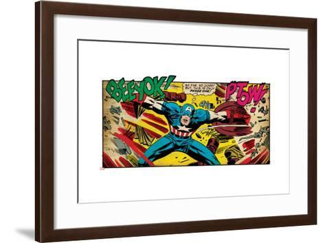Marvel Comics Retro Style Guide: Captain America--Framed Art Print