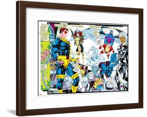 X-Men Forever Alpha No. 1: X-Men No. 1: Cyclops, Rogue, Storm, Archangel, Colossus, Iceman--Framed Art Print
