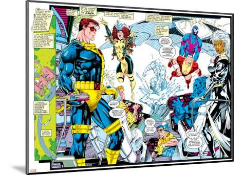 X-Men Forever Alpha No. 1: X-Men No. 1: Cyclops, Rogue, Storm, Archangel, Colossus, Iceman--Mounted Art Print