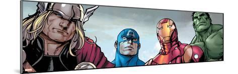 Avengers Assemble Style Guide: Thor, Captain America, Iron Man, Hulk--Mounted Art Print