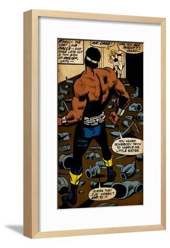 Marvel Comics Retro Style Guide: Cage, Luke--Framed Art Print