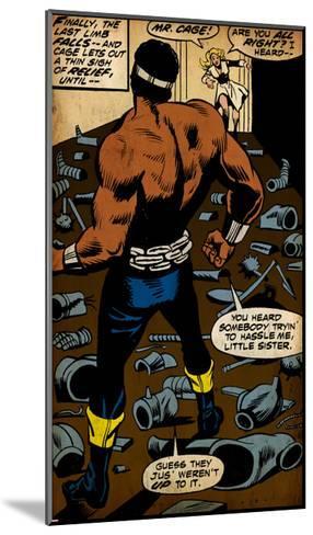 Marvel Comics Retro Style Guide: Cage, Luke--Mounted Art Print