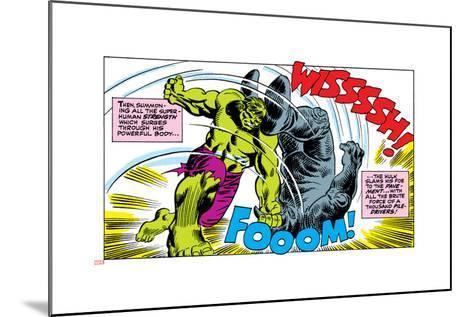 Marvel Comics Retro Style Guide: Hulk, Rhino--Mounted Art Print