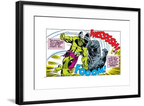Marvel Comics Retro Style Guide: Hulk, Rhino--Framed Art Print