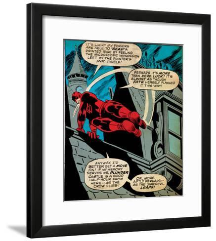 Marvel Comics Retro Style Guide: Daredevil--Framed Art Print