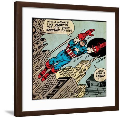 Marvel Comics Retro Style Guide: Captain America--Framed Art Print