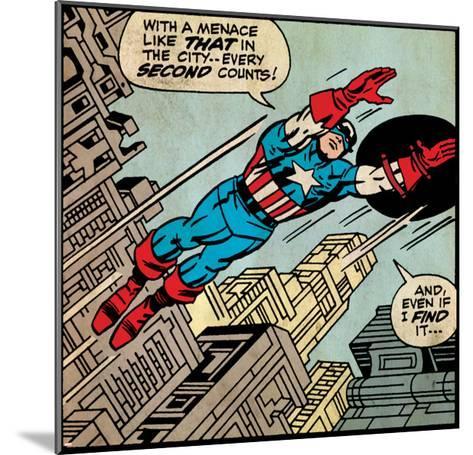 Marvel Comics Retro Style Guide: Captain America--Mounted Art Print