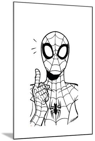 Ultimate SpiderMan - Fall 2013 Panel Line Art--Mounted Art Print